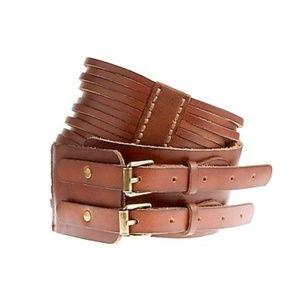 { j. crew } multi strap leather waist belt